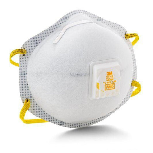 3M Particulate Respirators N95 w/ Nuisance Level Acid Gas Relief 10/pk - 8516