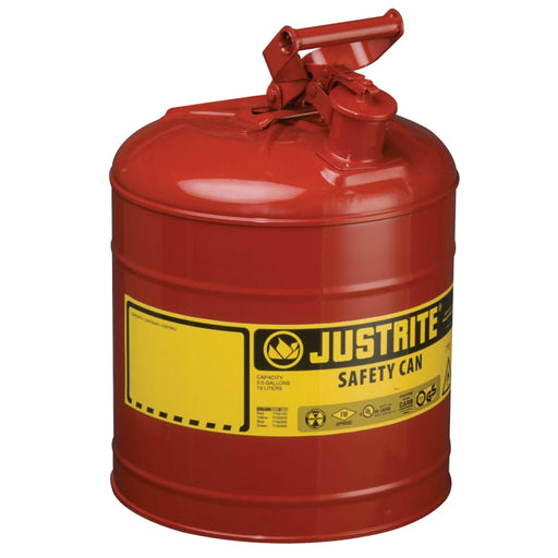 Justrite Type I Safety Can, Flammables, 5 gal - 7150100