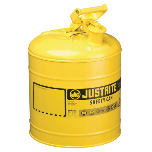 Justrite Type I Safety Can, Diesel, 5 gal - 10811