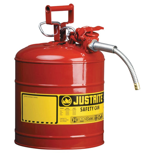 Justrite Type II AccuFlow Safety Can, Flammables, 5 gal - 7250120