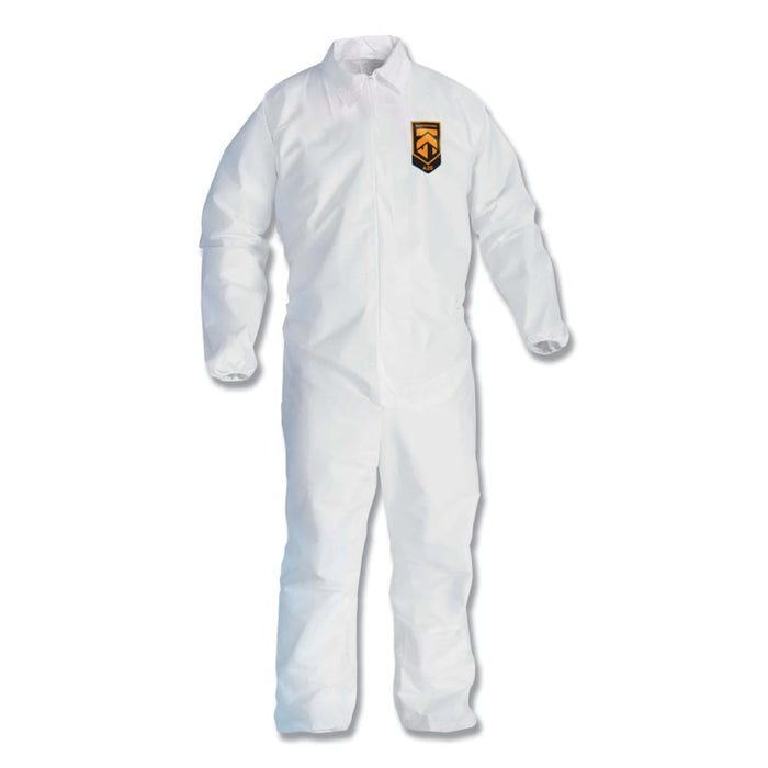 KleenGuard A20 Breathable Particle Protection Coveralls w/ Zip-Up Front, 24/pk