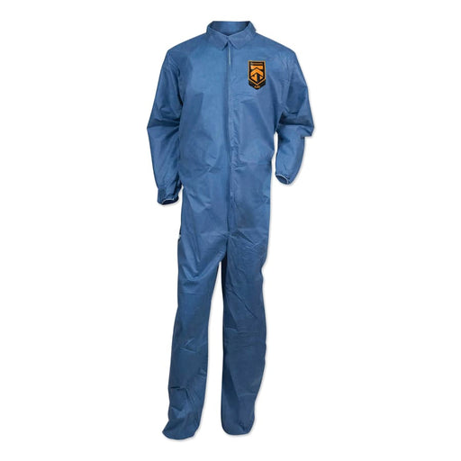 KleenGuard A20 Breathable Particle Protection Coveralls w/ Zip-Up Front, Denim Blue, 20/pk