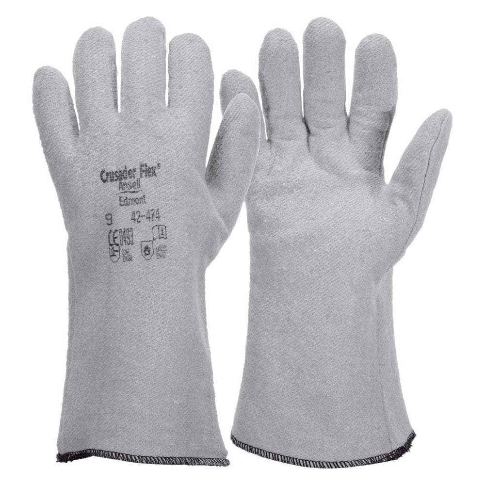 "Ansell Crusader Flex 14"" Hot Mill Gloves, 12/pk - 42-474"