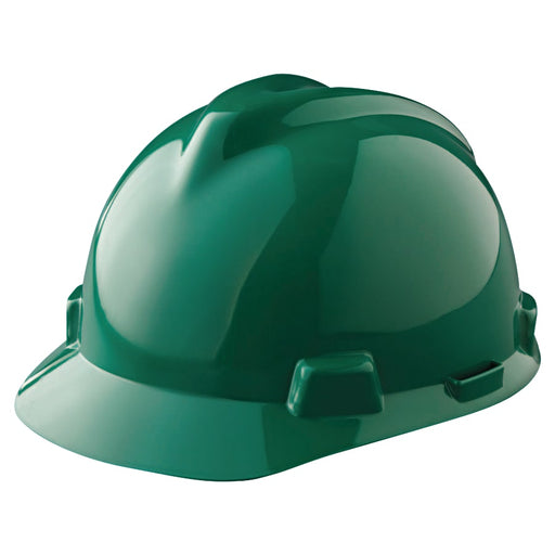 MSA V-Gard Slotted Hard Hat w/ Fas-Trac Suspension - 475362