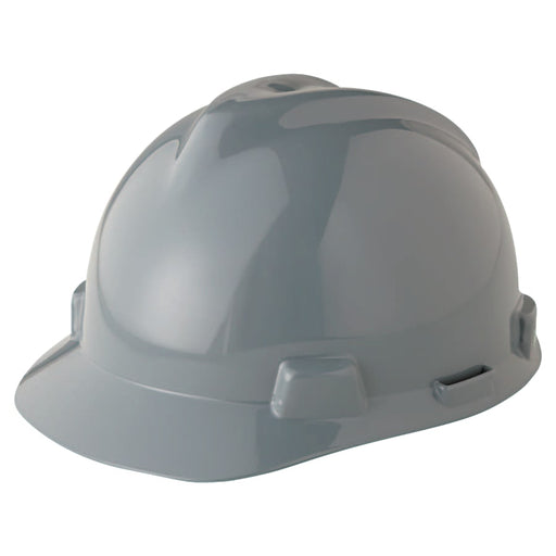 MSA V-Gard Slotted Hard Hat w/ Fas-Trac Suspension - 475364