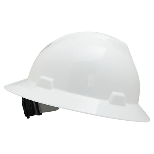 MSA V-Gard Full Brim Hard Hat w/ Fas-Trac Suspension, Non-Slotted - 475369