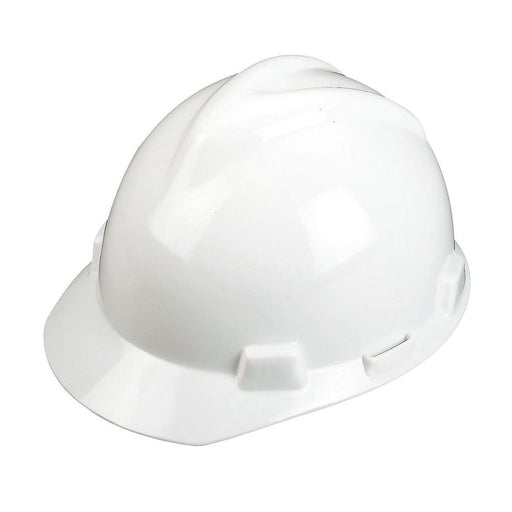 MSA V-Gard Hard Hat w/ Fas-Trac Suspension, Slotted - 475358