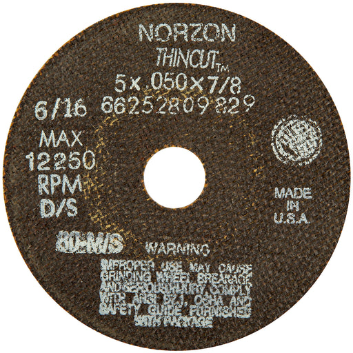 Norton flat Ceramic cut-off wheel - Type1 - 7 x 1/16 x 7/8 - 10/box - 66252900652