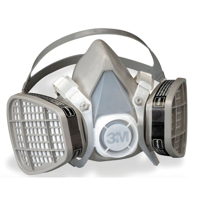 3M Organic Vapor Dual Cartridge Half Face Respirator, 5000 Series, Medium - 5201