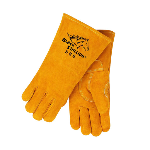 Black Stallion Cowhide Stick Welding Gloves - 550