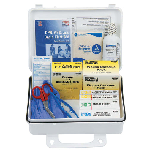 First Aid Only Weatherproof Plastic Kit w/ Wall Mount, 25 Person - 6430