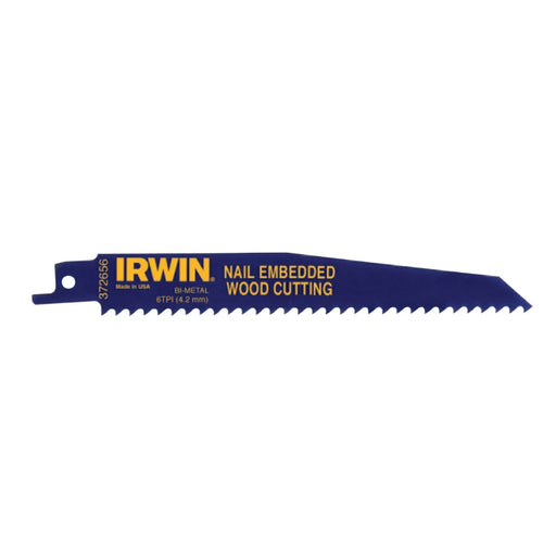 "Irwin Reciprocating Saw Blade 6"", 6 TPI - 372656"