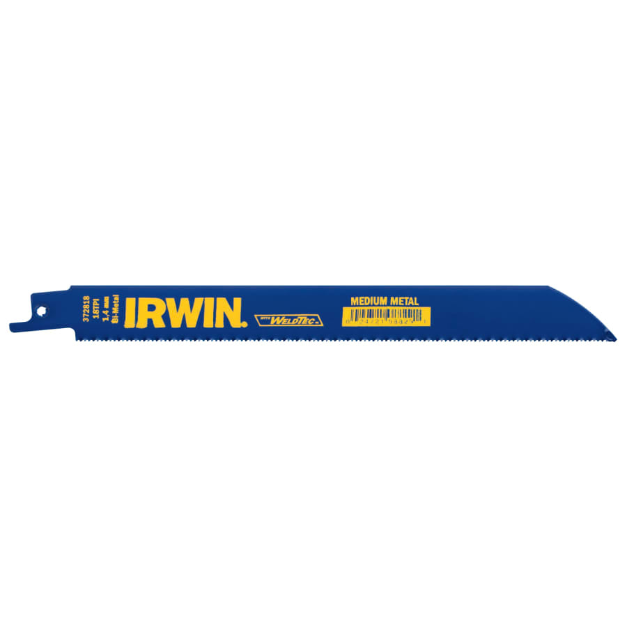 Irwin Metal Cutting Reciprocating Blades with WeldTec, 5/pk - 372818