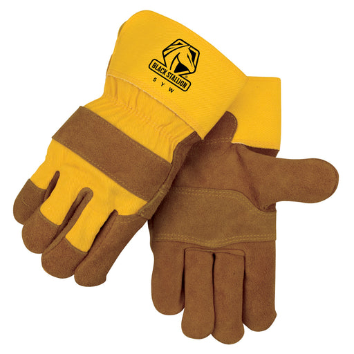 Black Stallion Heavy Split Cowhide Winter Work Glove - 5YW