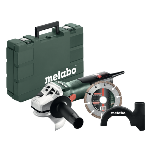 "Metabo W 11-125 4.5""-5"" Angle Grinder Set w/ Diamond Wheel, 11 Amp - 603622850"