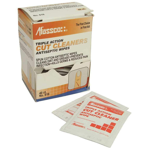 Afassco Cut-Cleaning Antiseptic Wipes, 40/pk - 616