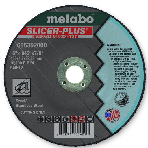 Metabo Type 27 SLICER-PLUS Cut. Wheels 6x.045x7/8 10/Box - 655352000