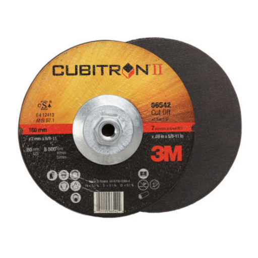 3M Cubitron II Cut-Off Wheel T27 QC 7x.09x5/8-11in (50/case) - 66542