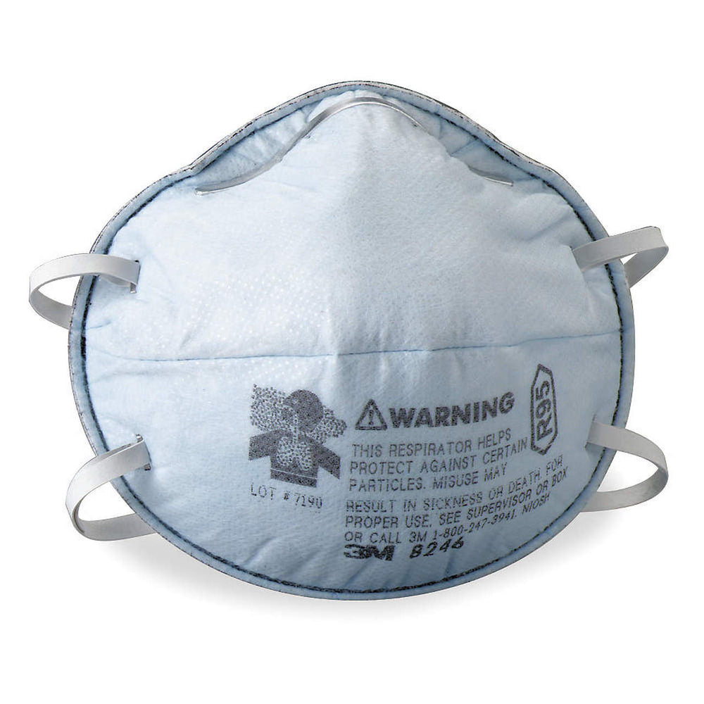 3M R95 Particulate Respirators w/ Nuisance Level Acid Gas Relief, 20/pk - 8246