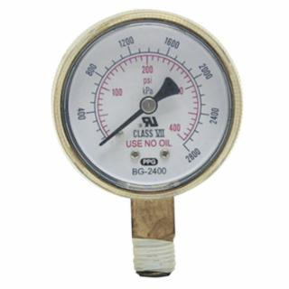 "Best Welds Replacement Gauge - 2"" x 30PSI Red Line - B230RL"