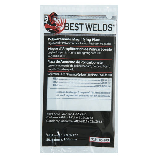 Best Welds Polycarbonate Magnifier Lens 2 in  x 4.25 in - 901-932-146