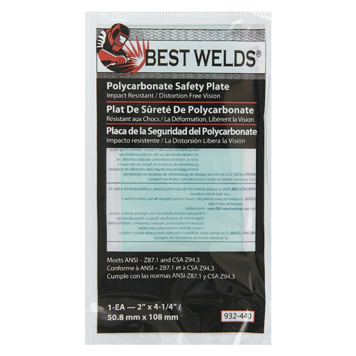 "Best Welds 2"" x 4.25"" Polycarbonate Lens 10/pk - 901-932-440"