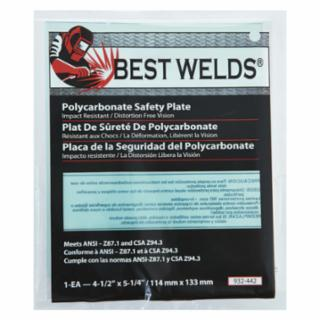 "Best Welds 4"" X 5"" Polycarbonate Lens - Pack of 10 - PC-45"