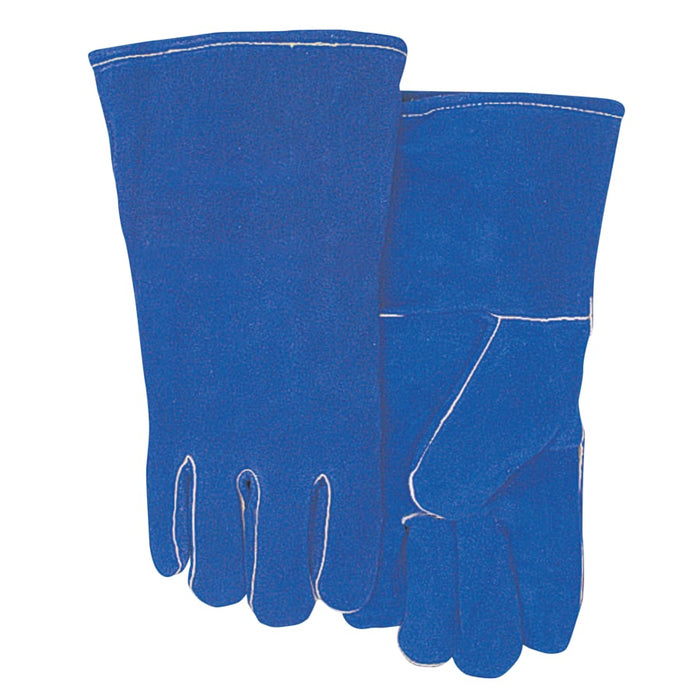 Best Welds Blue Split Cowhide Welding Gloves - Large - Pack of 12 - 300GC