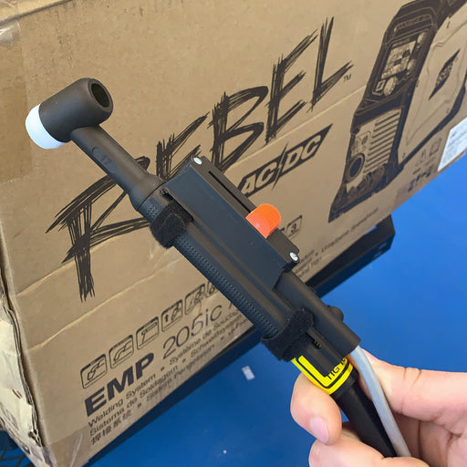 ESAB Rebel TIG Torch Remote installed on a TIG Torch - 0558102676