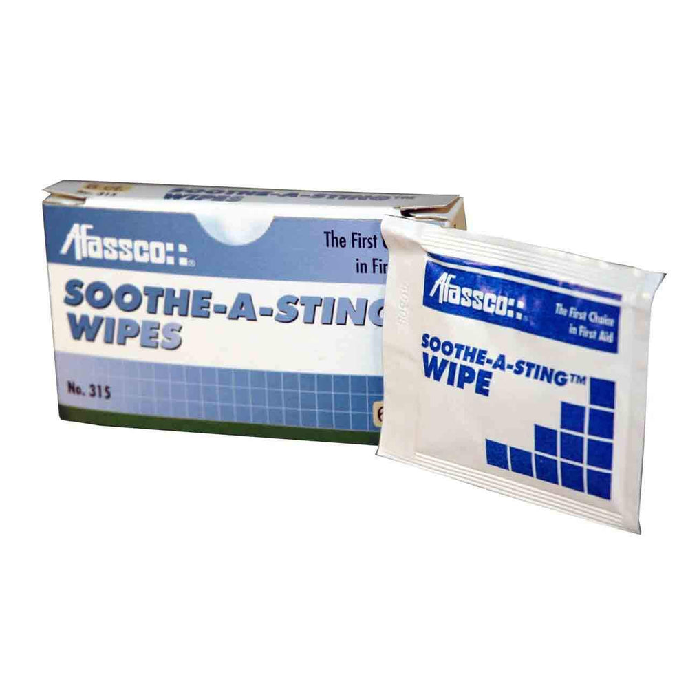 Afassco Soothe-A-Sting Wipes - 6 wipes/box - 315