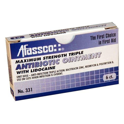 Afassco Triple Antibiotic Ointment, Maximum Strength, Unit Dose - 6 packets/box - 331