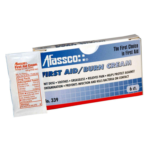 Afassco First Aid/Burn Cream, Unit Dose - 6 packets/box - 339