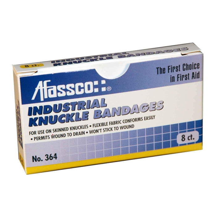 Afassco Knuckle, Heavy Duty Industrial Strength, Adhesive Bandages - 8 bandages/box - 364