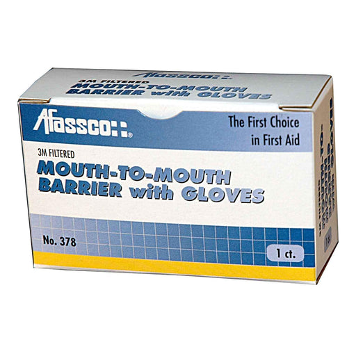 Afassco Mouth-to-Mouth Barrier w/Gloves, 3M Filter & Valve - 378