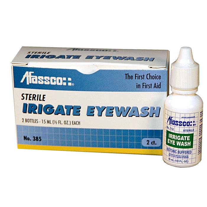 Afassco Eyewash, One 1 oz. Bottle - 386