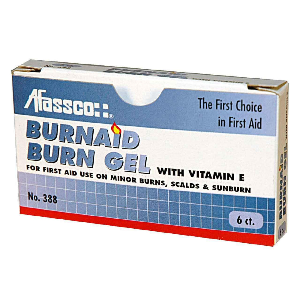 Afassco Burn Gel, Pain Relieving Gel, Unit Dose - 6 packets/box - 388