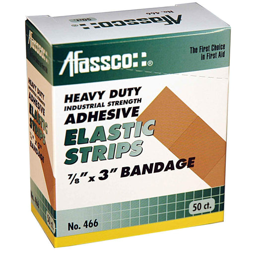 "Afassco Strips, 3/4""x3"", Industrial Strength, Adh. Elastic - 75 bandages/box - 424"