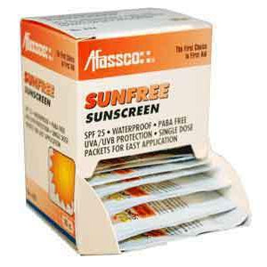 Afassco SunFree Sunblock, Unit Dose - 20 packets/box - 632