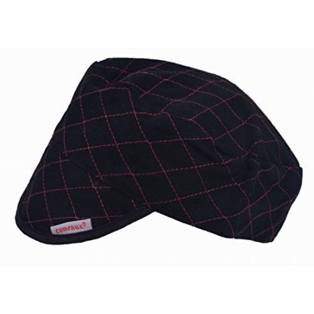 Comeaux - 3000 Black Quilted Flat Crown Cap - BC-600
