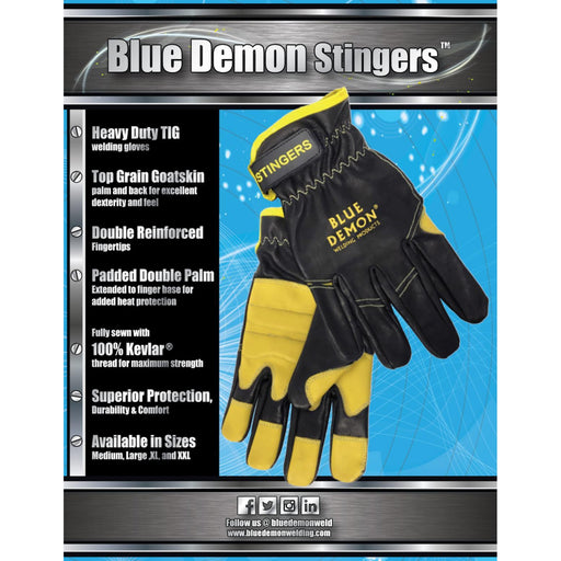 Blue Demon Stingers Welding Gloves