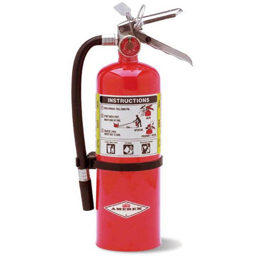 Amerex ABC Dry Chem Fire Extinguisher 5 lb w Vehicle Bracket - AX402T