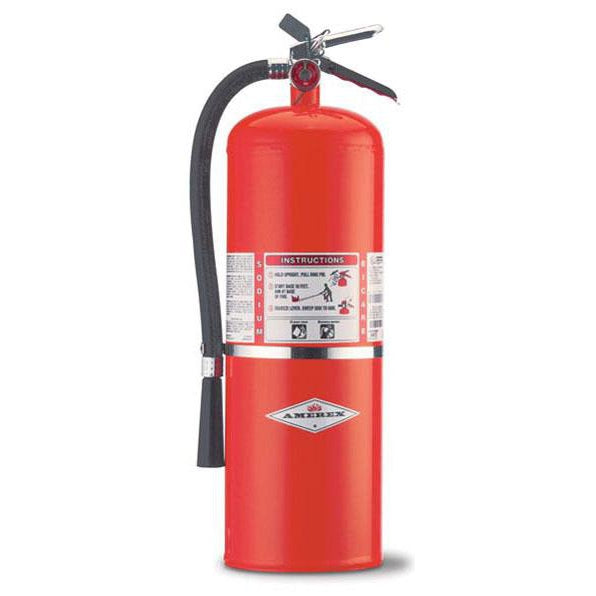 Amerex BC Dry Chem Fire Extinguisher 20 lb. w/ Wall Hanger - AX412