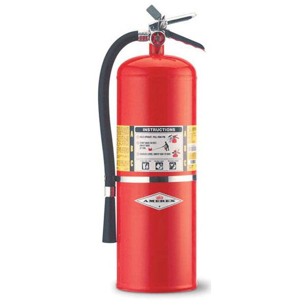 Amerex ABC BROAX441 Dry Chem Extinguisher 10 lb w Brass Valve - AX441