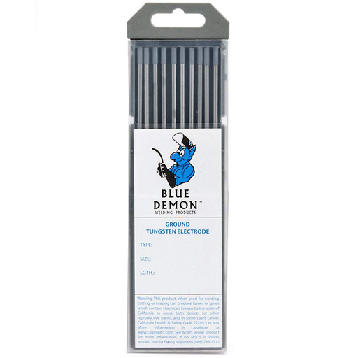 "Blue Demon 1/16"" 2% Ceriated Tungsten, 10/pk - TE2C-116-10T"