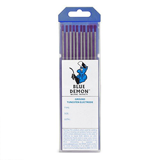 "Blue Demon EWLa-2 1/16"" 2% Lathanated Tungsten, 10/pk - TE2L-116-10T"