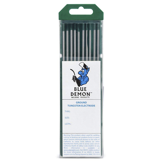 "Blue Demon EWP 1/8"" Pure Tungsten, 10/pk - TEP-18-10T"