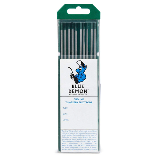 Blue Demon EWP 1/16inx7in 10pk Pure tungsten electrode - TEP-116-10T