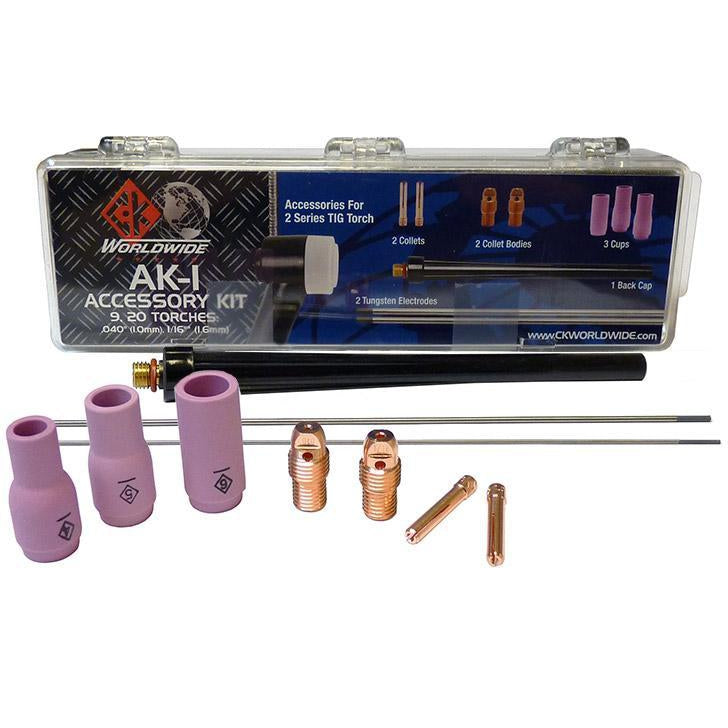 CK Worldwide 2 Series TIG Torch Accessory Kit, Small - AK-1