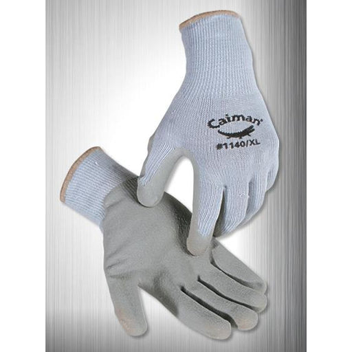 Caiman Gloves Cotton Knit, Latex Coated Crinkle Finish - 12/pk - 1140