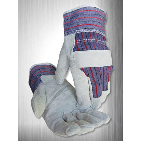 Caiman Gloves Econ. Leather Patched Palm Starched Cuff (12/pk) - 1209